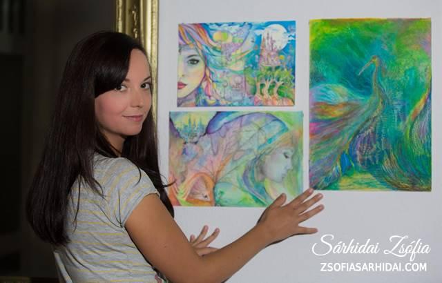 Sárhidai Zsófia - rajzművész, a Kreatív Boldogság Műhely