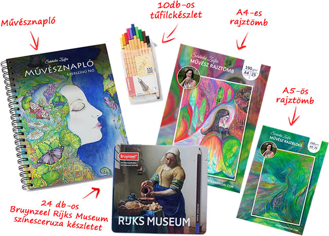 Művésznapló művészkellékekkel